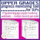Upper Grades Progress Monitoring Tool for SLPs - FIGURATIVE LANGUAGE