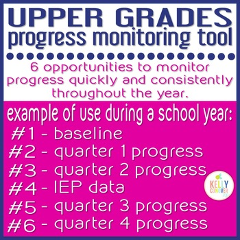 Upper Grades Progress Monitoring Tool for SLPs - IDENTIFYING PERSPECTIVE