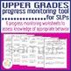 Upper Grades Progress Monitoring Tool for SLPs - MAKING SOCIAL CHOICES