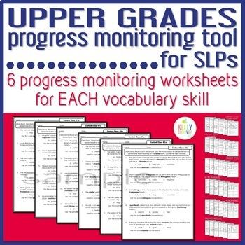 Upper Grades Progress Monitoring Tool for SLPs - VOCABULARY