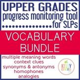 Upper Grades Progress Monitoring Tool for SLPs - VOCABULARY BUNDLE