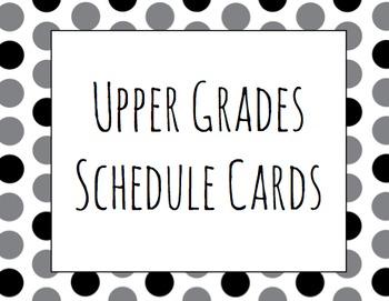 Upper Grades Schedule Cards