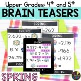 Upper Grades Spring Brain Teasers