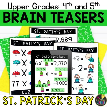 Upper Grades St. Patrick's Day Brain Teasers