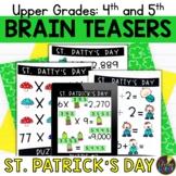Upper Grades St. Patrick's Day Brain Teasers