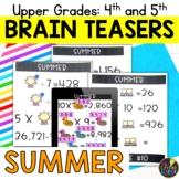 Upper Grades Summer Brain Teasers