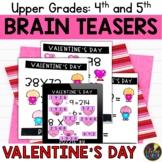 Digital Logic Puzzles   Upper Grades Valentine's Day Brain