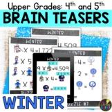 Upper Grades Winter Brain Teasers