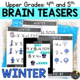 Upper Grades Winter Brain Teasers