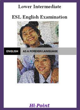 Lower Intermediate English ESL EFL Exam: Crime; Adjectives ED or ING; Past Sim.