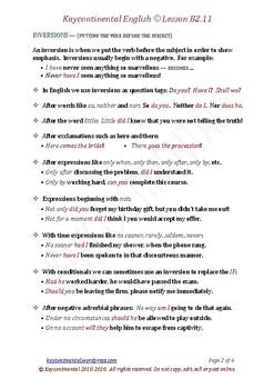 B2.11 - I Wish, Inversions, Prefixes & Suffi