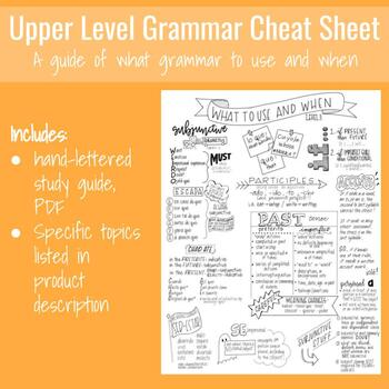 Upper Level Grammar Visual Study Guide