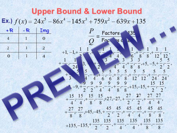 Upper & Lower Bound of a Polynomial Function