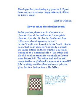 Upper & Lower Case Alphabet Checkers