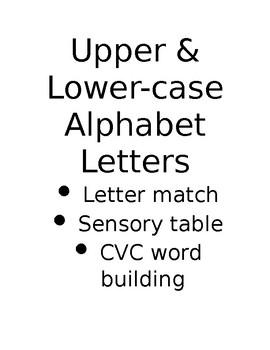 Upper & Lower Case Alphabet Letters