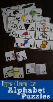 Upper / Lower Case Alphabet Puzzles