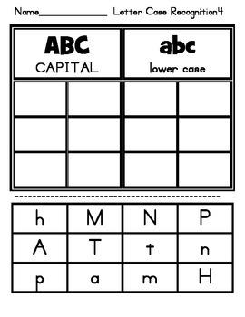 Upper Lower Case Alphabet Sort 1 by Saxon Ll,Oo,Gg, Hh, Tt, Pp, Aa, Nn, Mm
