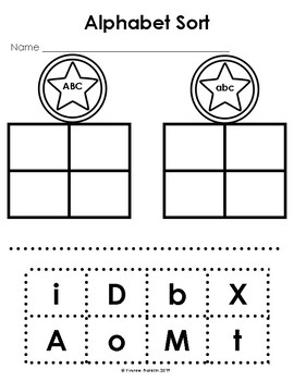 Upper & Lower Case Alphabet Sort