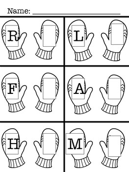Upper & Lower Case Letter - Activity (The Mitten)