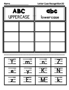 Upper Lower Case Letter Cut n Sort by Saxon Phonics Letter Order Complete Set