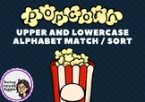 Upper & Lower Case Letter Match - POPCORN Theme