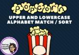 Upper & Lower Case Letter Match - POPCORN Theme (NSW Found