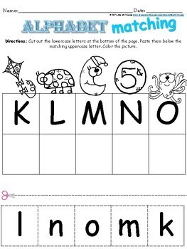 Letter Recognition Matching Activity
