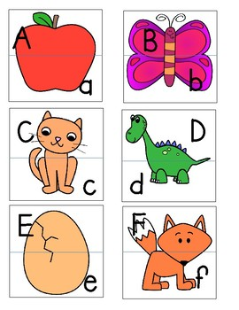 Upper/Lower Case Letter Matching Puzzles