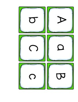 Upper Lower Case Letter Sort/Match  For kindergarten  FREE