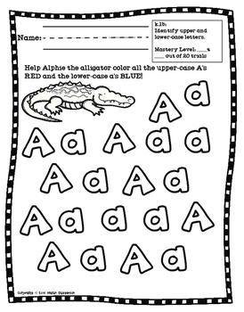 Upper & Lower-Case Letters Practice (TEK k.1b)