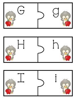 Upper & Lower Case Match Literacy Center - Penguin Themed
