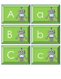 Upper & Lower Case Matching Cards- Robot Theme