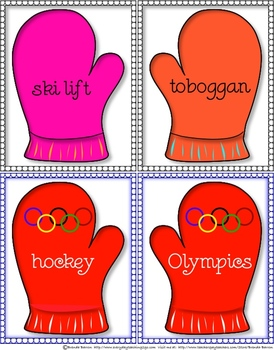 Upper & Lower Case Mittens(&Number,Writing,Winter & Olympics Word Wall Mittens)