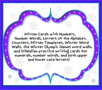 Upper & Lower Case Mittens(&Number,Writing,Winter & Olympi
