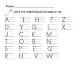 Upper Lower Letter Matching