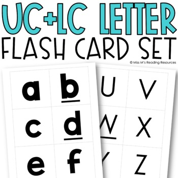 Upper & Lowercase Letter Flash Cards