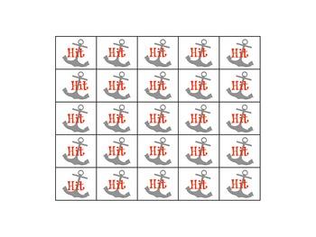 Upper Lowercase Letter Identification Game - Battleship - Hit or Miss letters