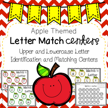Upper & Lowercase Letter Identification and Match Centers