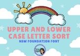 Upper & Lowercase Letter Match - RAINBOW Theme (NSW Founda
