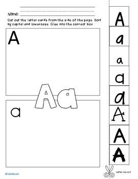 Upper/Lowercase Letter Sort