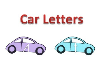 Upper/Lowercase Letters - Cars