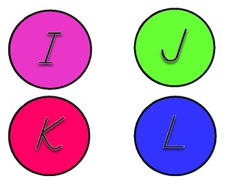 Upper/Lowercase Letters - Circles