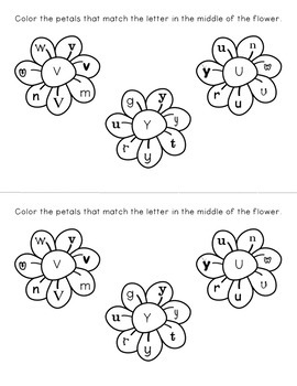 Upper & Lowercase Letters - Perfect Petals