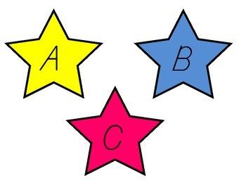 Upper/Lowercase Letters - Stars
