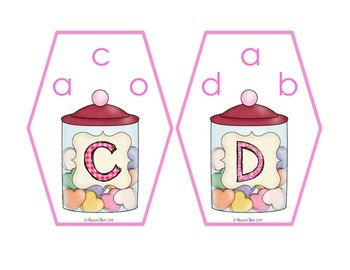 Upper-Lowercase Matching Clip Cards - Valentine's Day