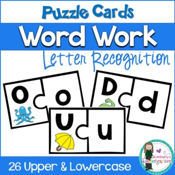 Puzzle Game: Upper & Lowercase Match. Game or Word Work. Cut & Go!