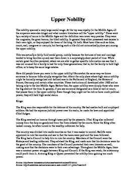 Upper Nobility Article
