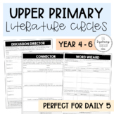 Upper Primary Literature Circle Templates - Use with ANY text!