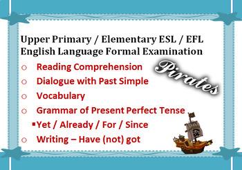 "Upper Primary School Sixth Grade Elementary ESL English Language Exam ""Pirates"""