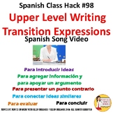Upper Spanish Level Writing Abstract Transition Expression